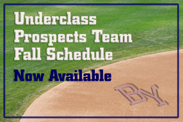 Underclass Prospects Fall Schedule is now available.