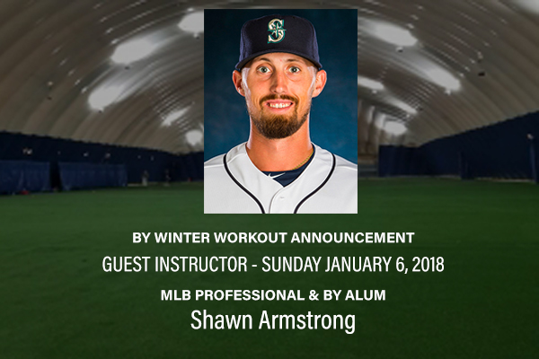 MLB Pro and BY Alum Shawn Armstrong instructs at BY Winter Workouts Jan 6