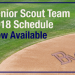Click here for the 2018 Senior Scout team schedule thumbnail