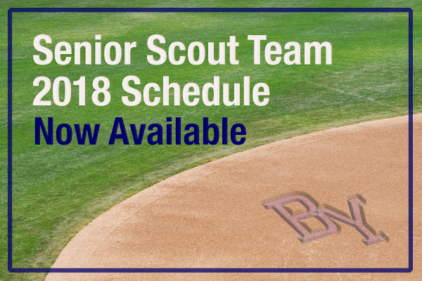 Click here for the 2018 Senior Scout team schedule