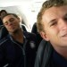 Jason Bush (forefront), Mike Martinez (background) on the plane to New Mexico. thumbnail