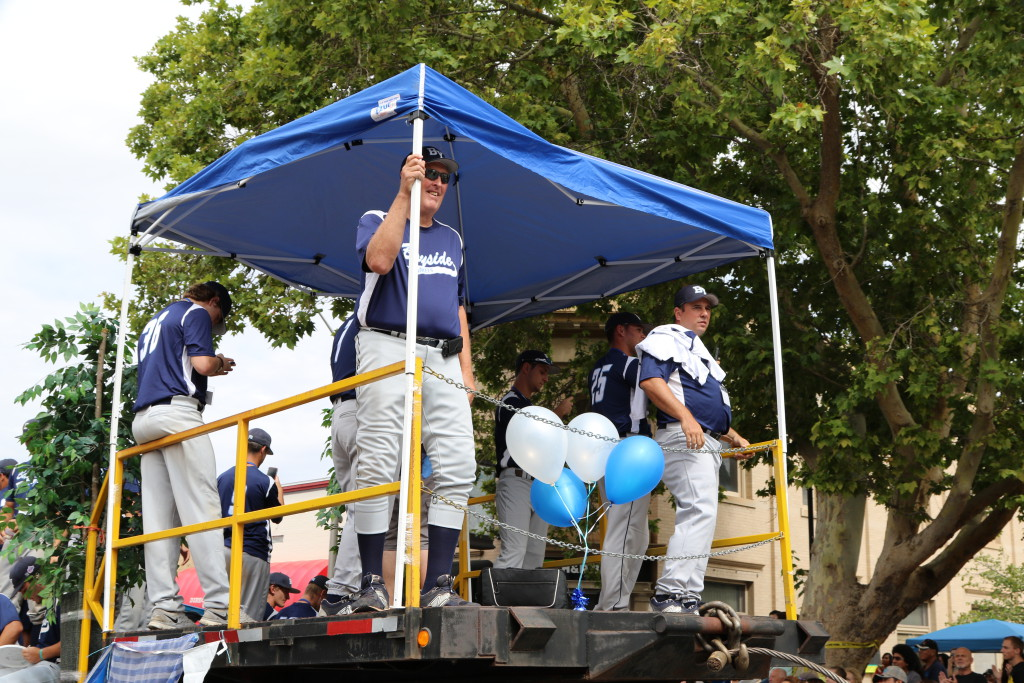 2015 Connie Mack World Series Parade on float