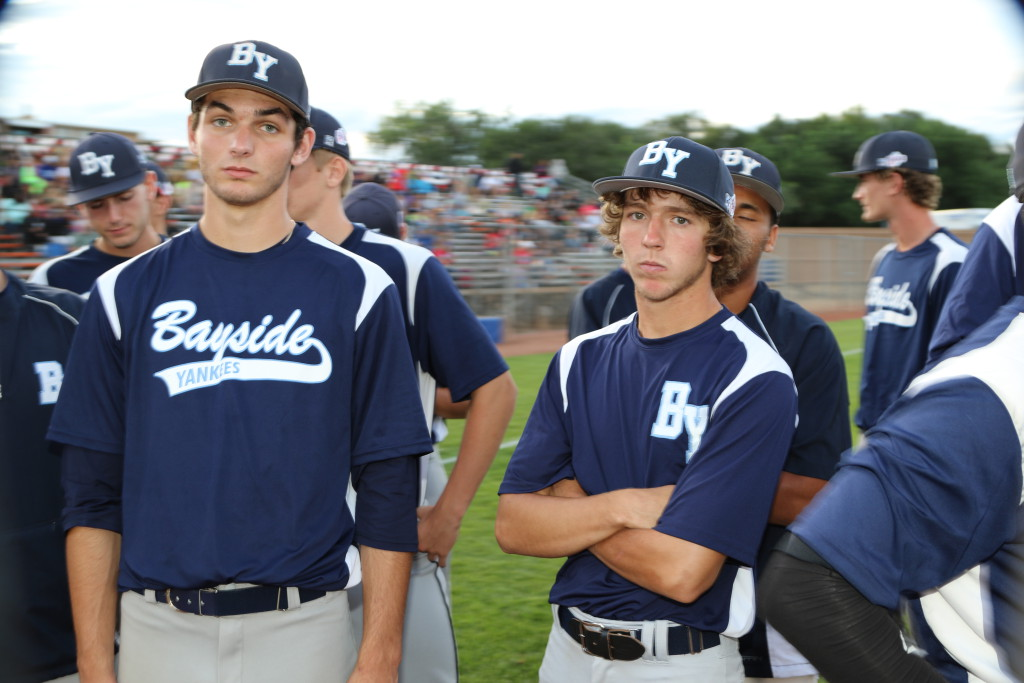 Chris Morgese (L) & Bullpen Catcher Dominic Hines (R)